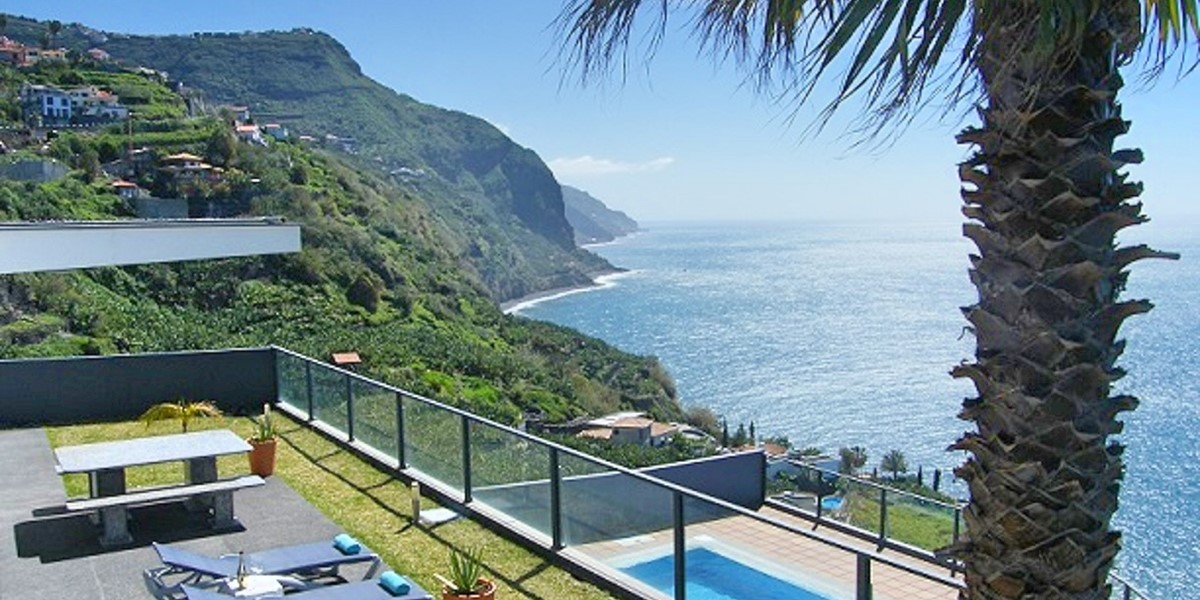 1 Our Madeira Villa Oceano Terrace And Pool Area