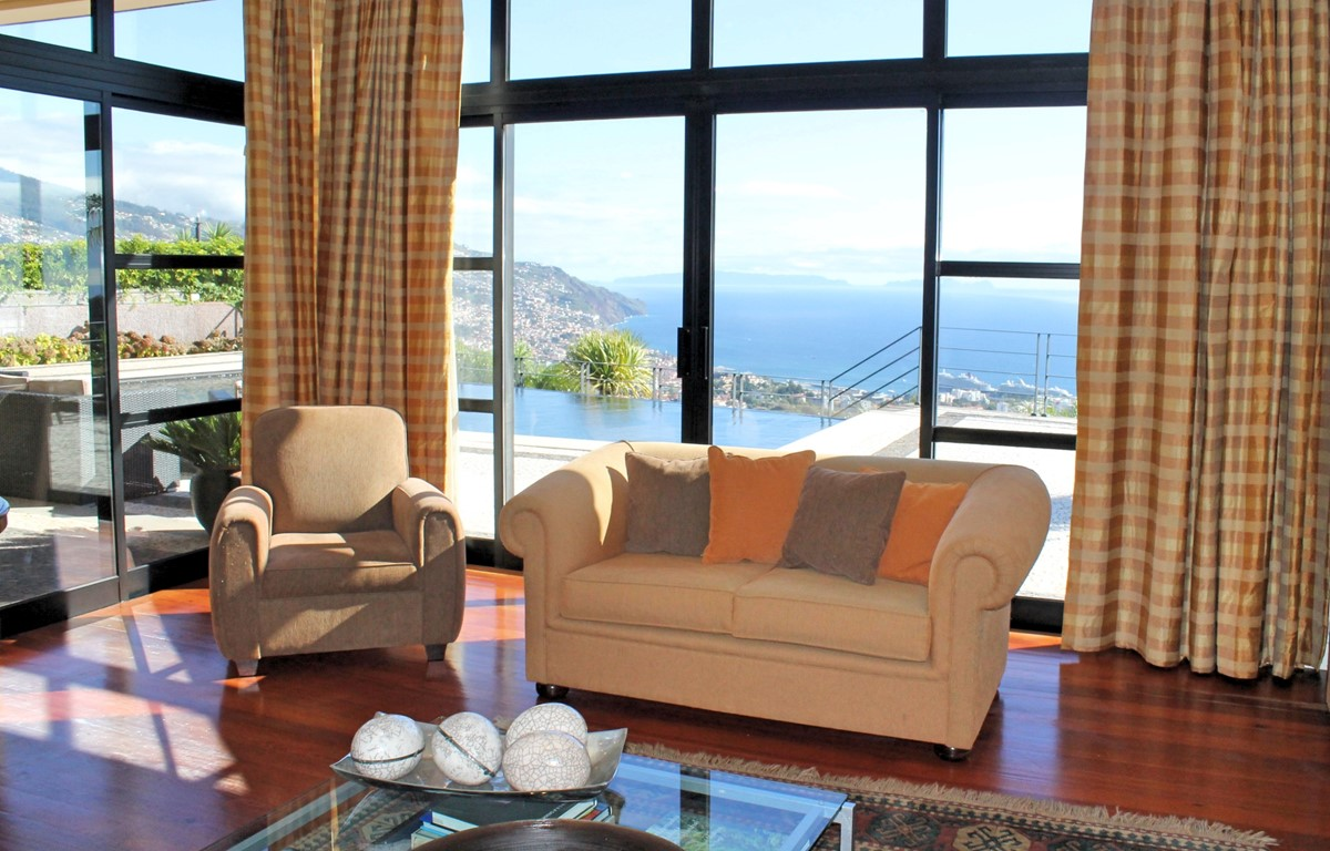 5 Our Madeira Villa Luz Lounge And View