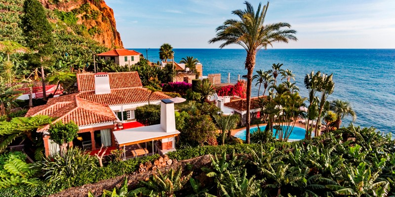 Our Madeira Villas in Madeira by the Beach Villa Do Mar 1 Aerial View