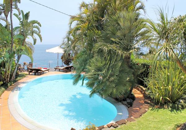 Our Madeira Villas in Madeira with Private Pool Villa Do Mar I Pool Garden 2