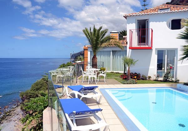 Our Madeira Villas in Madeira with Heated Pool Villa Do Mar II Pool And Pebble Beach
