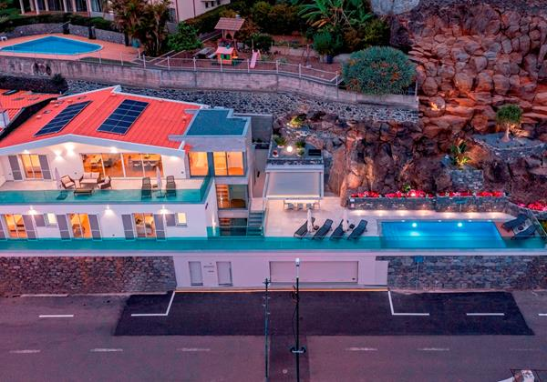 Ourmadeira Villas In Madeira Grandview Aerial View At Night