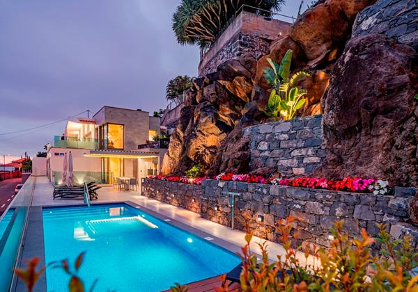 Ourmadeira Villas In Madeira Grandview Pool At Night