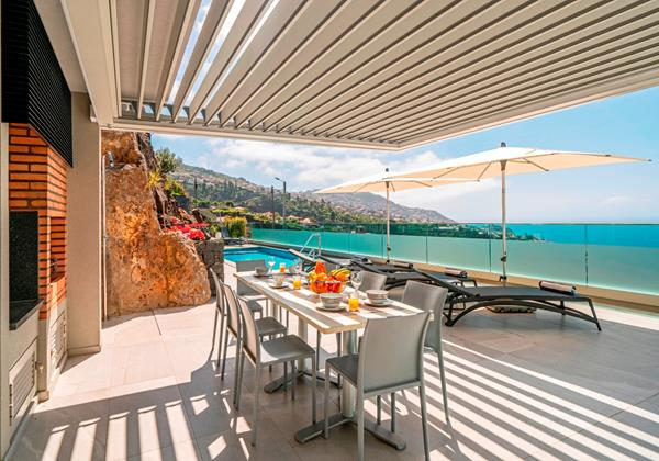 Ourmadeira Villas In Madeira Grandview Outdoor dining and pool