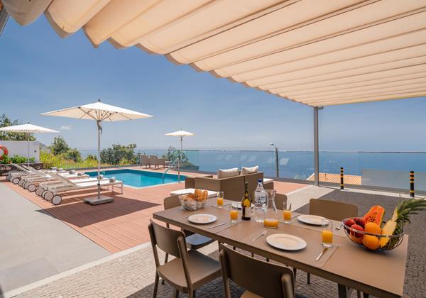 Ourmadeira Villas In Madeira Vila Da Portada Pool Deck