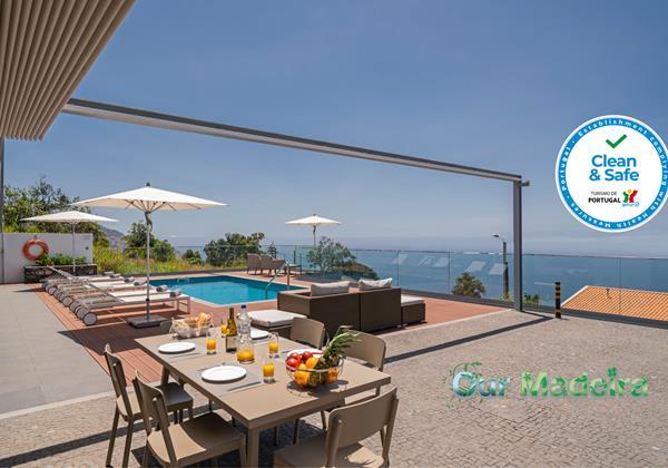 Ourmadeira Villas In Madeira Vila Da Portada Pool Deck And View