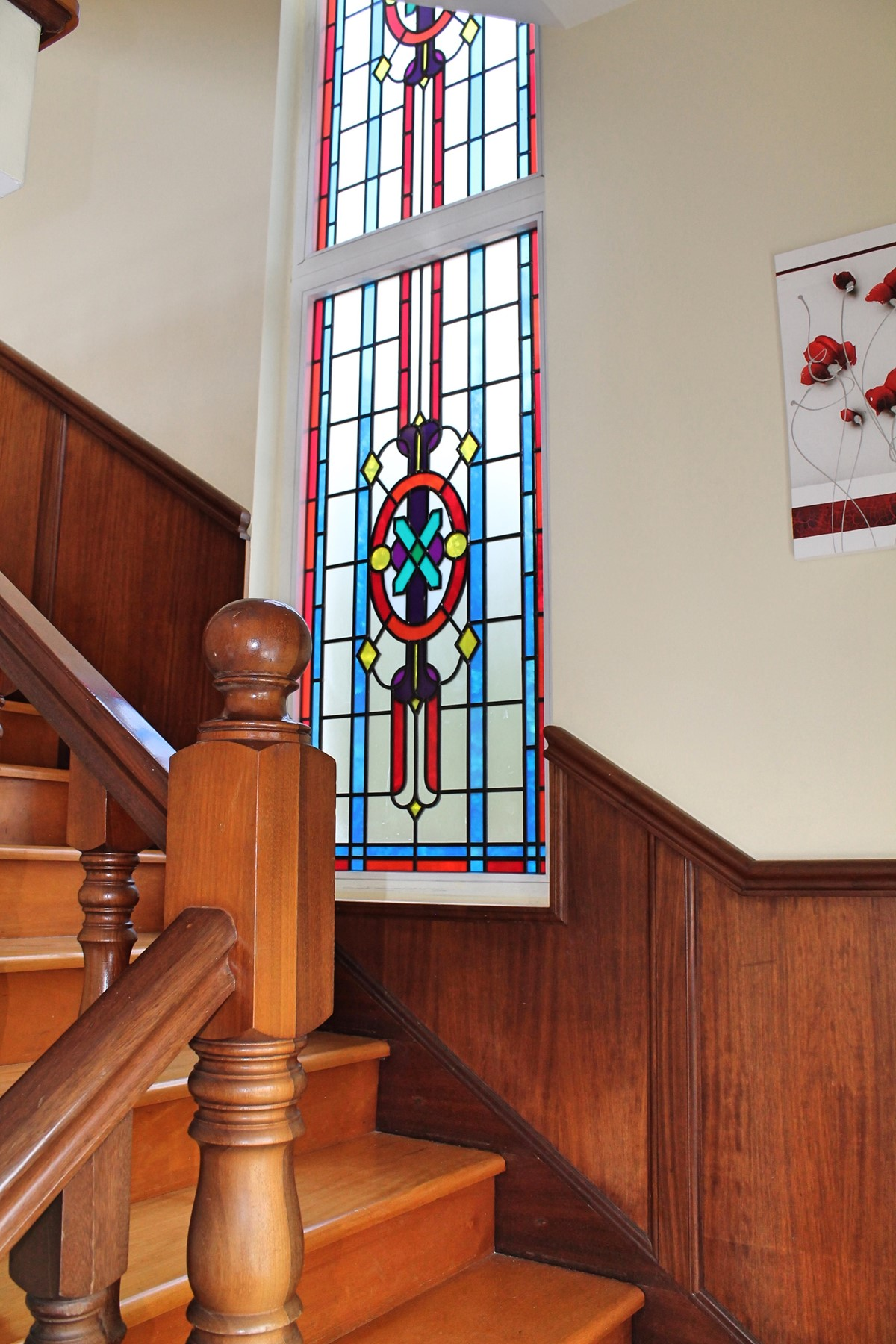 13 MHRD Casa Petronella Stairs And Stained Glass Windows