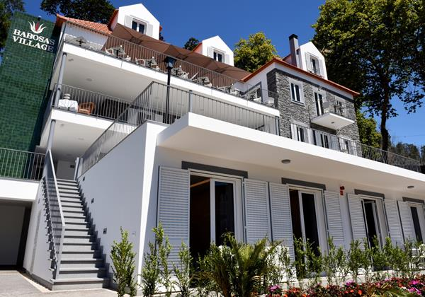 Our Madeira - Apartments in Madeira - Babosas Village Exterior Front View Garden