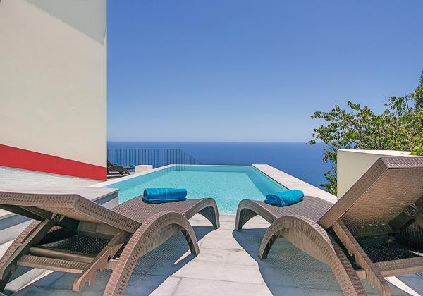 Our Madeira Casa Do Julio Pool View Sunbeds
